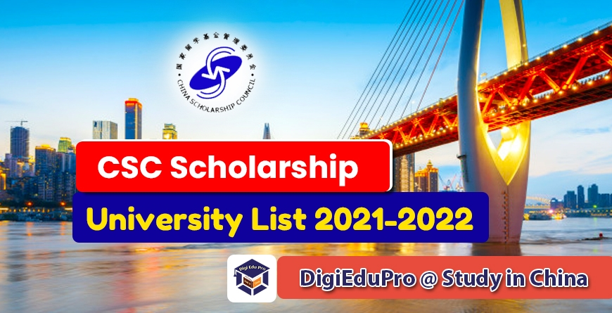 chinese government csc scholarship university list 2021