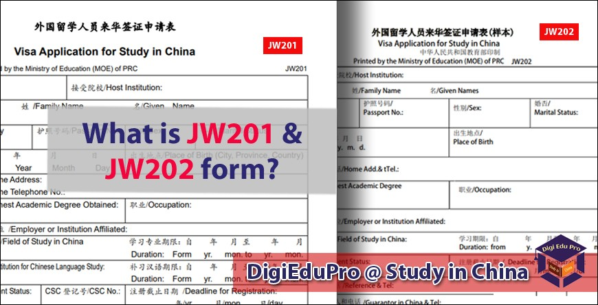 What-is-JW201-JW202-form3 Visa Application Form For Study In China Jw on